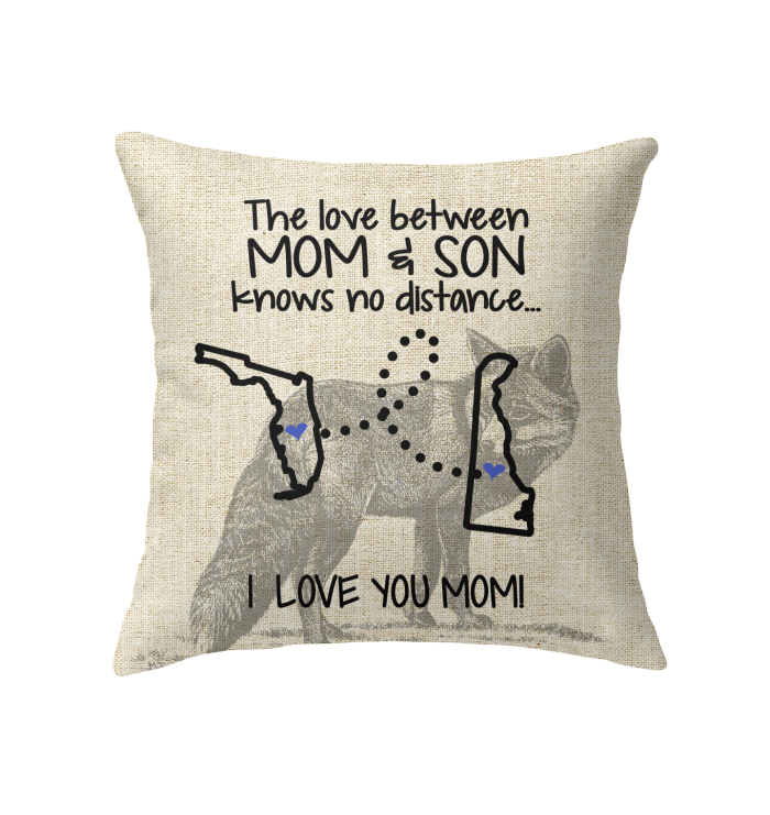 Delaware Florida The Love Between Mom And Son Pillow
