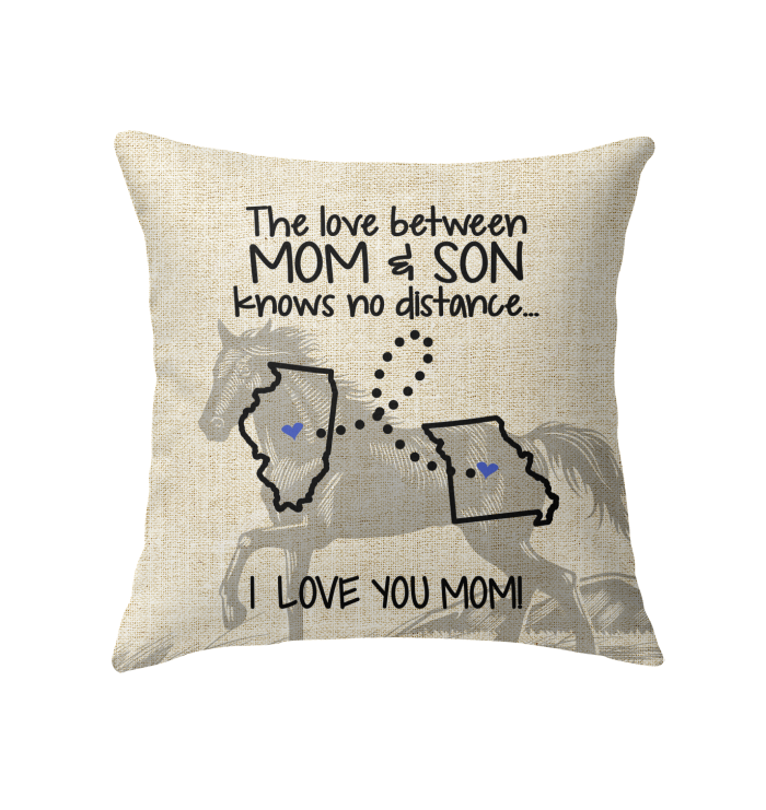 MISSOURI ILLINOIS THE LOVE MOM AND SON KNOWS NO DISTANCE