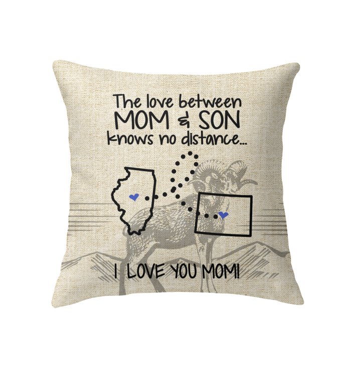 COLORADO ILLINOIS THE LOVE MOM AND SON KNOWS NO DISTANCE