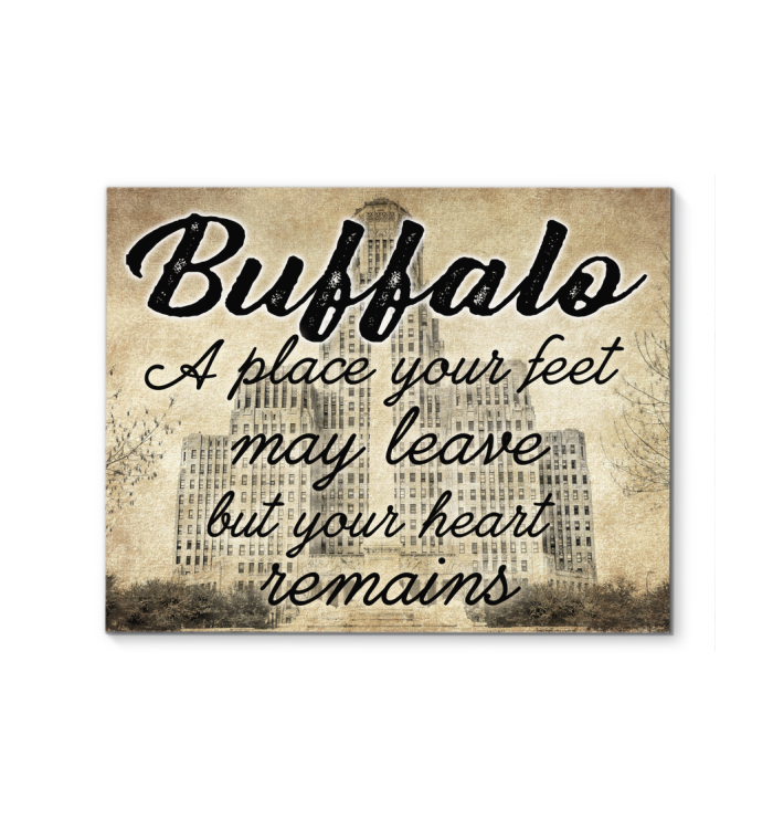Buffalo A Place Your Feet May Leave Poster
