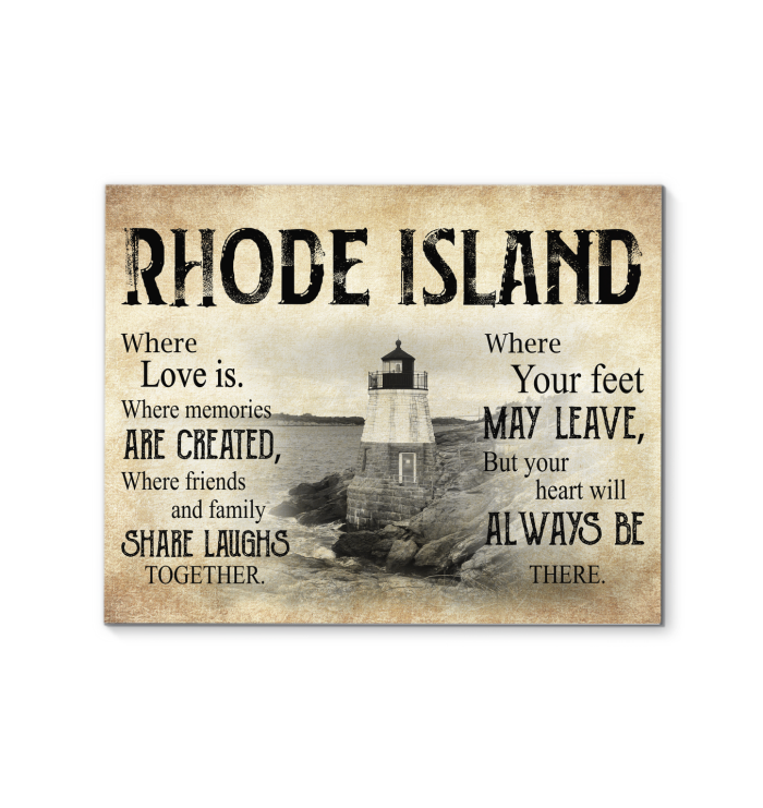 RHODE ISLAND WHERE LOVE IS WHERE MEMORIES ARE CREATED