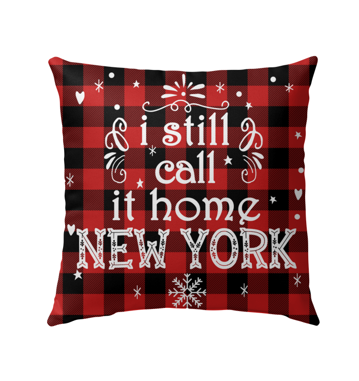 New York I Still Call It Home Pillow