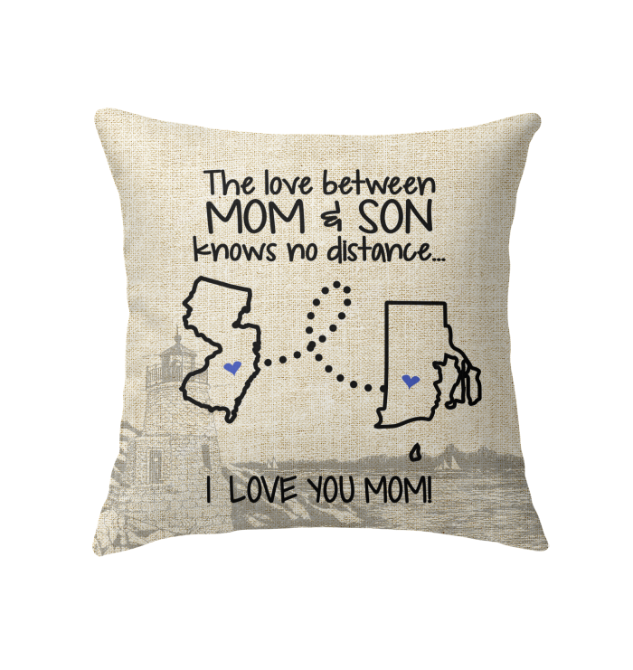 RHODE ISLAND JERSEY THE LOVE MOM AND SON KNOWS NO DISTANCE