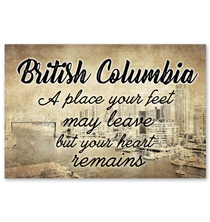 British Columbia A Place Your Heart Remains Poster