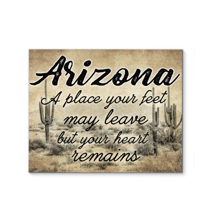 Arizona A Place Your Feet May Leave But Your Heart Remains Poster