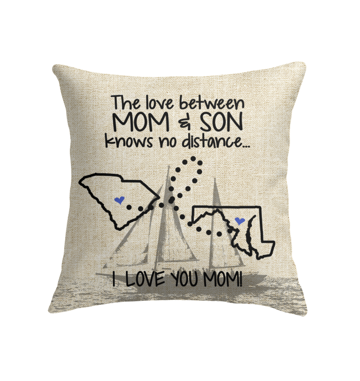 MARYLAND SOUTH CAROLINA THE LOVE MOM AND SON KNOWS NO DISTANCE