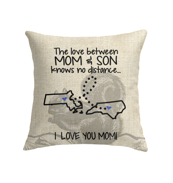 NORTH CAROLINA MASSACHUSETTS THE LOVE MOM AND SON KNOWS NO DISTANCE