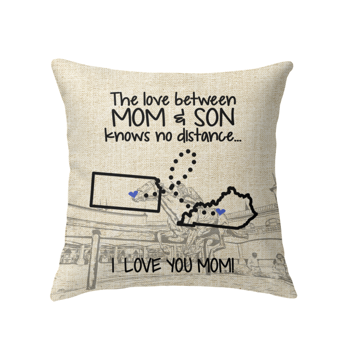 KENTUCKY KANSAS THE LOVE MOM AND SON KNOWS NO DISTANCE