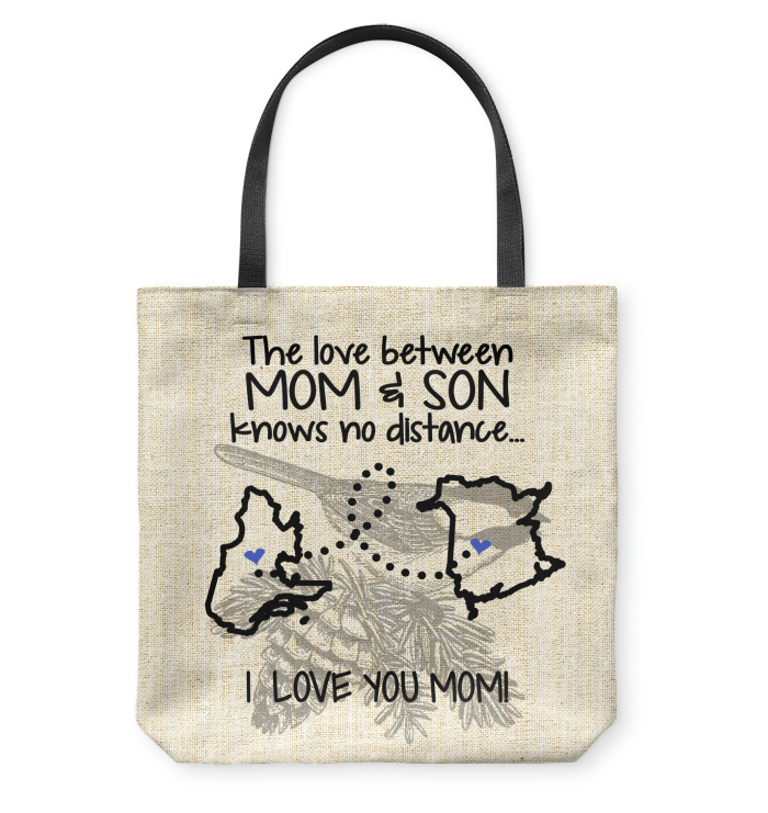 New Brunswick Quebec The Love Between Mom And Son Tote Bag