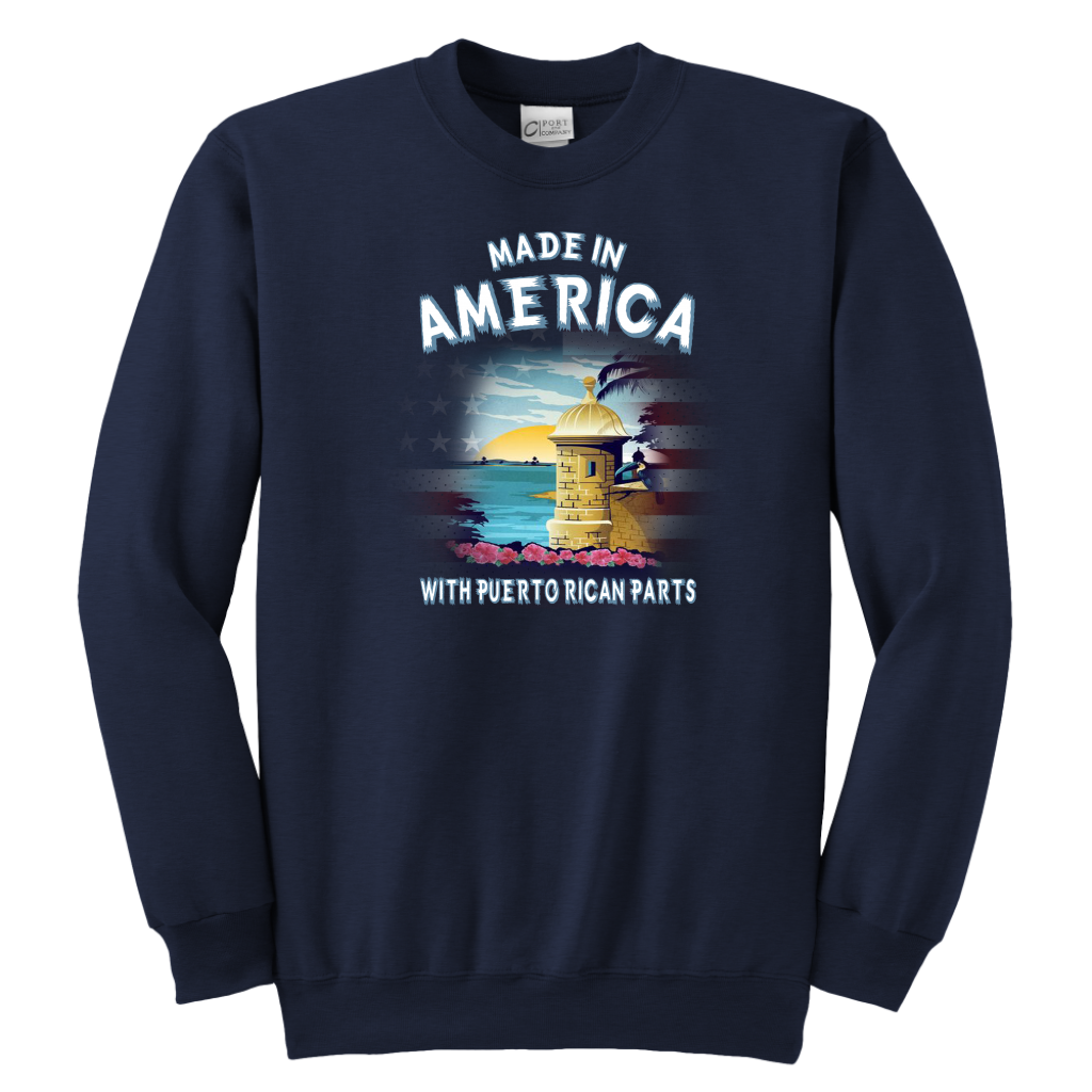 Made In America With Puerto Rican Parts T Shirt