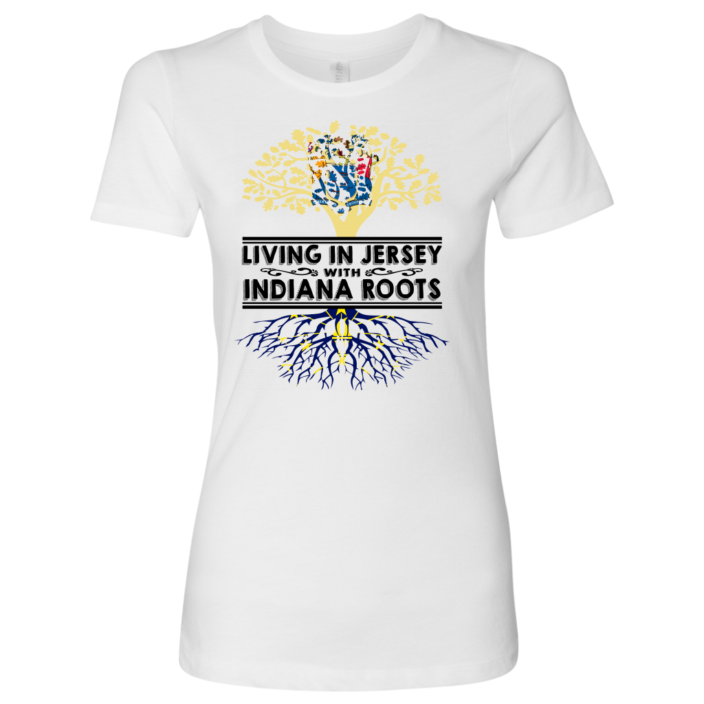 Living In Jersey With Indiana Roots T- Shirt