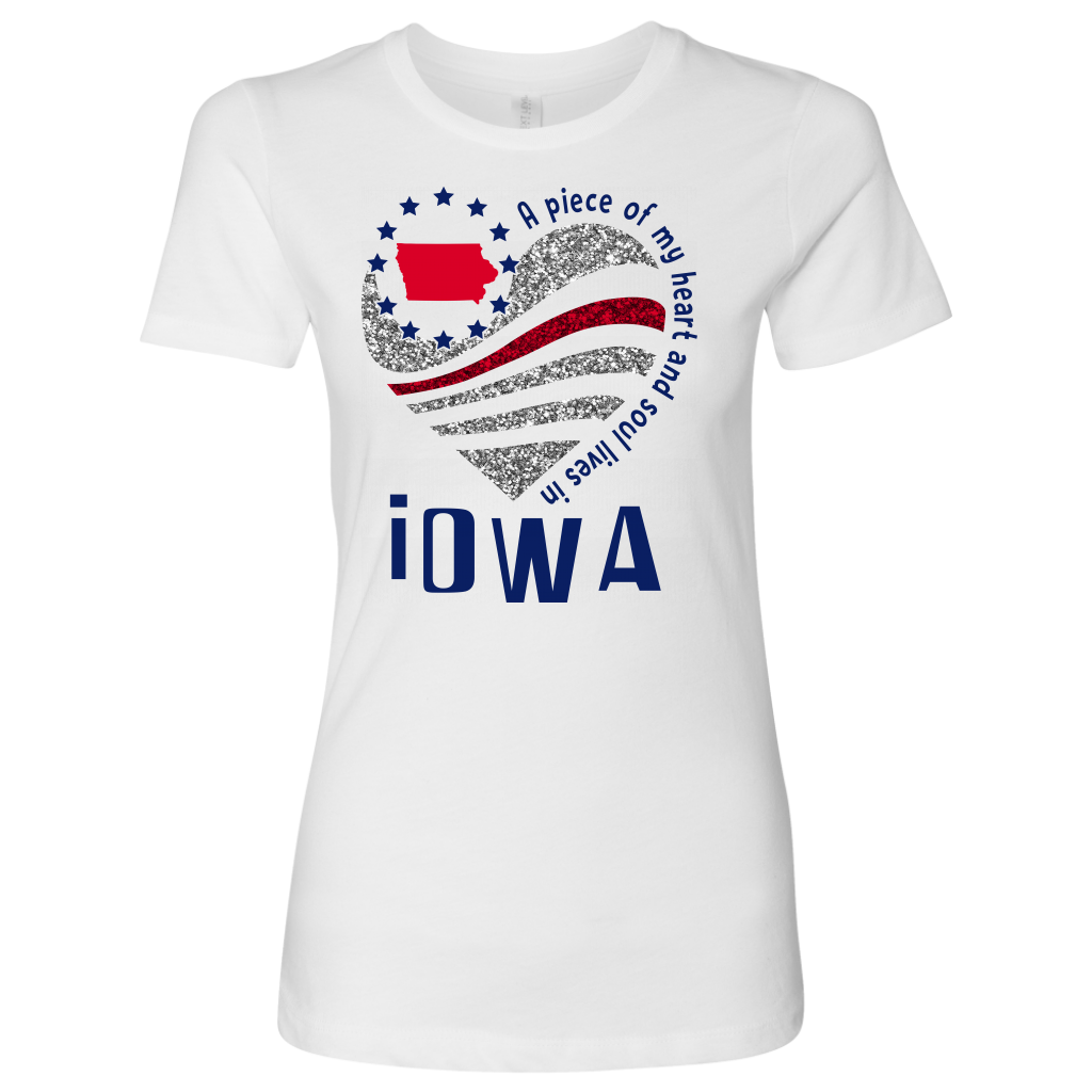 A Piece Of My Heart And Soul Lives In Iowa T- Shirt