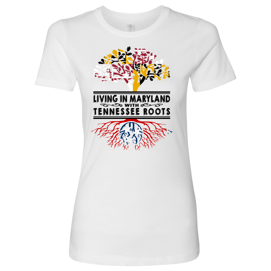 Living In Maryland With Tennessee Roots T Shirt
