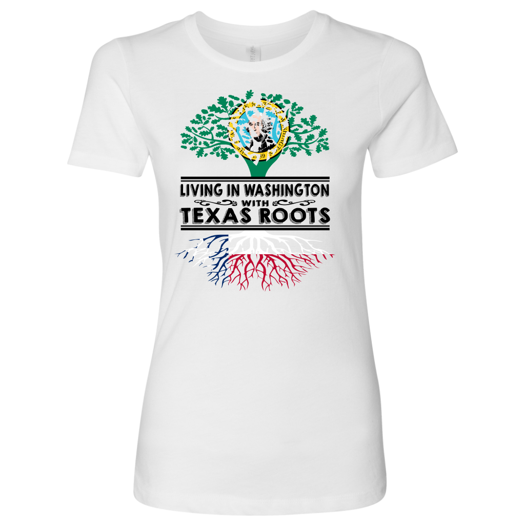 Living In Washington With Texas Roots T- Shirt