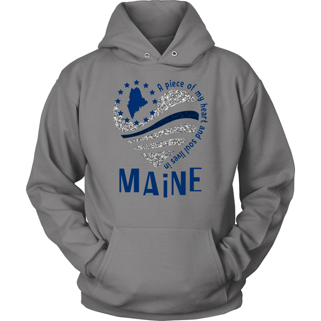 A Piece Of My Heart And Soul Lives In Maine T-shirt