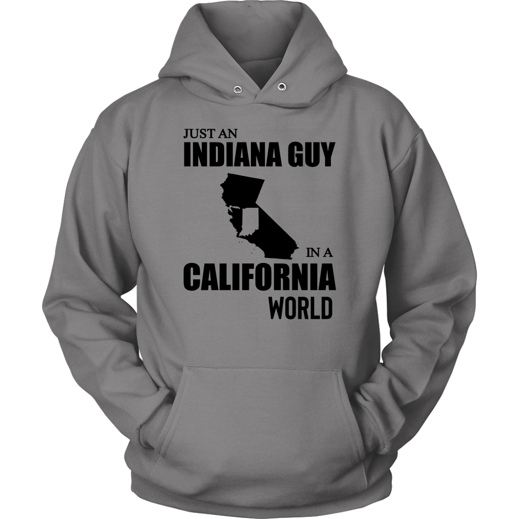 Just An Indiana Guy In A California World  T- Shirt