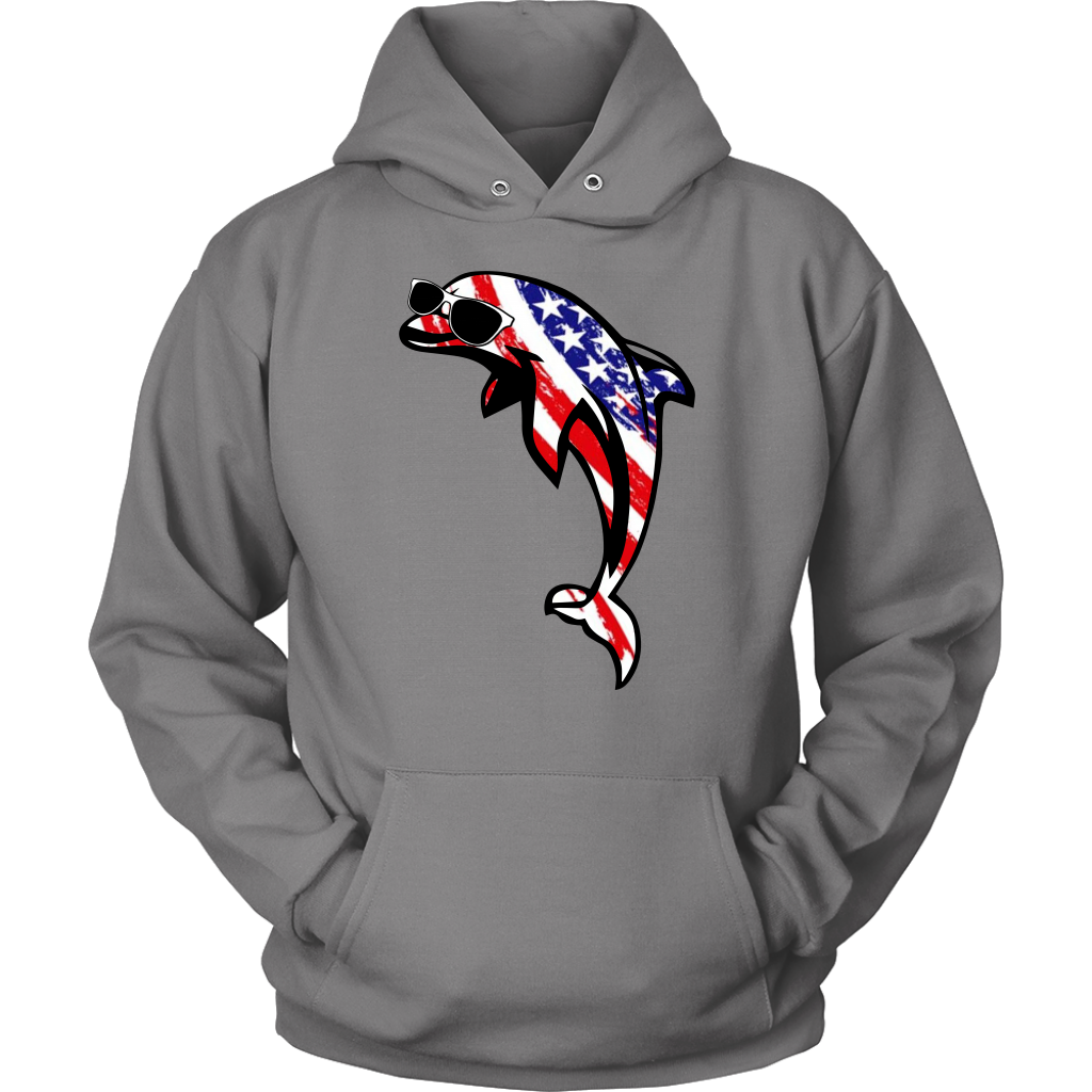 Dolphin With American Flag T-Shirt