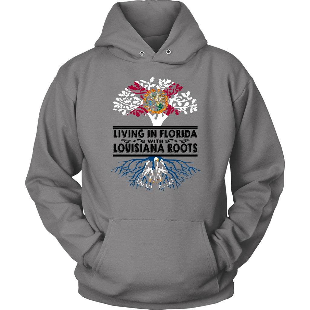 Living In Florida With Louisiana Roots T-shirt