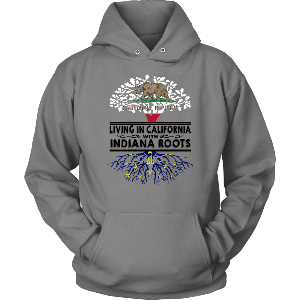 Living In California With Indiana Roots T- Shirt