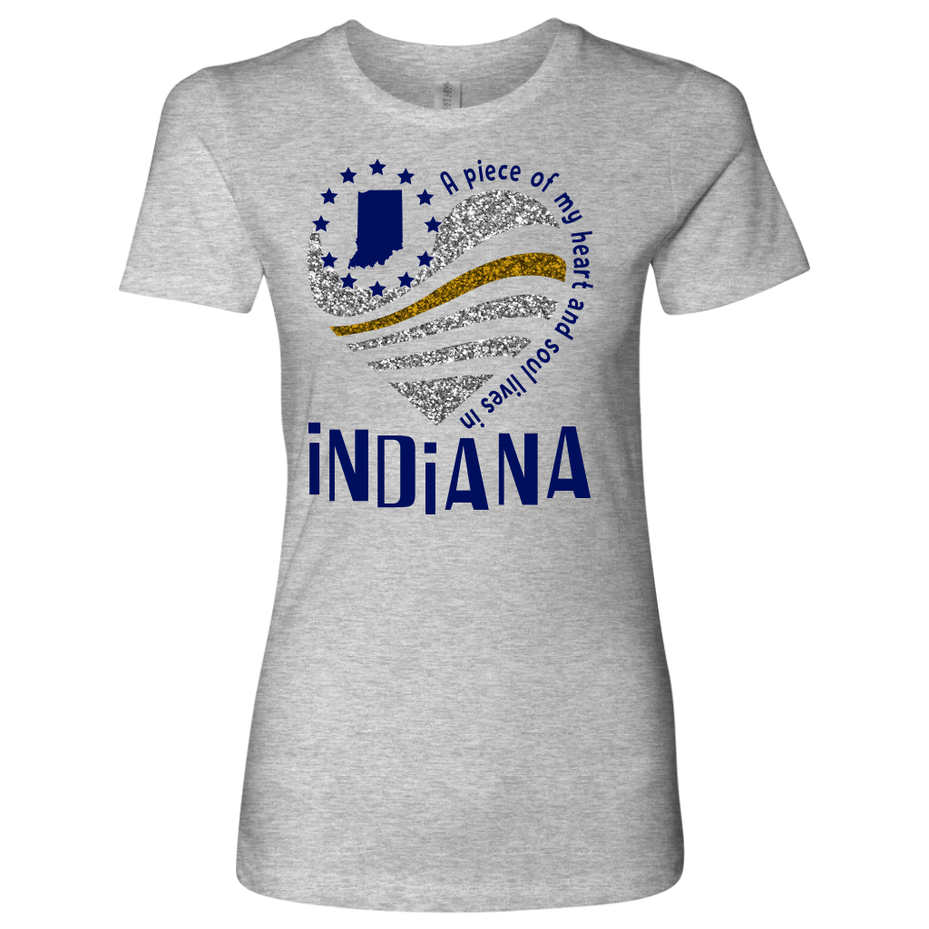 A Piece Of My Heart And Soul Lives In Indiana T-Shirt