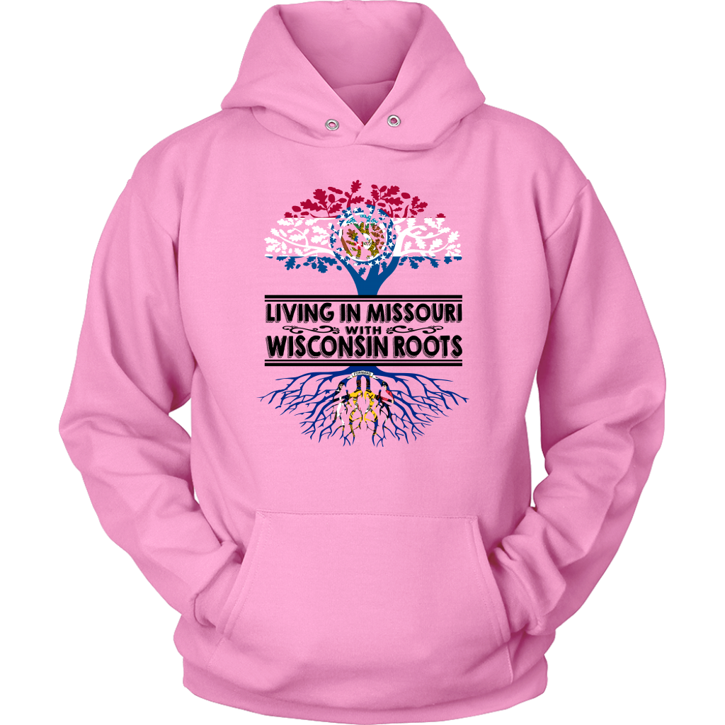 Living In Missouri With Wisconsin Roots T-shirt