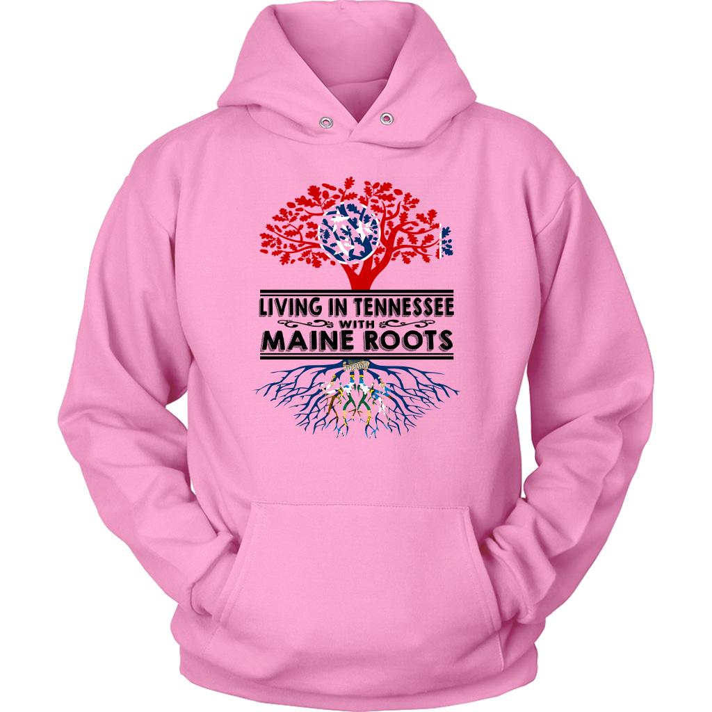 Living In Tennessee With Maine Roots T-shirt