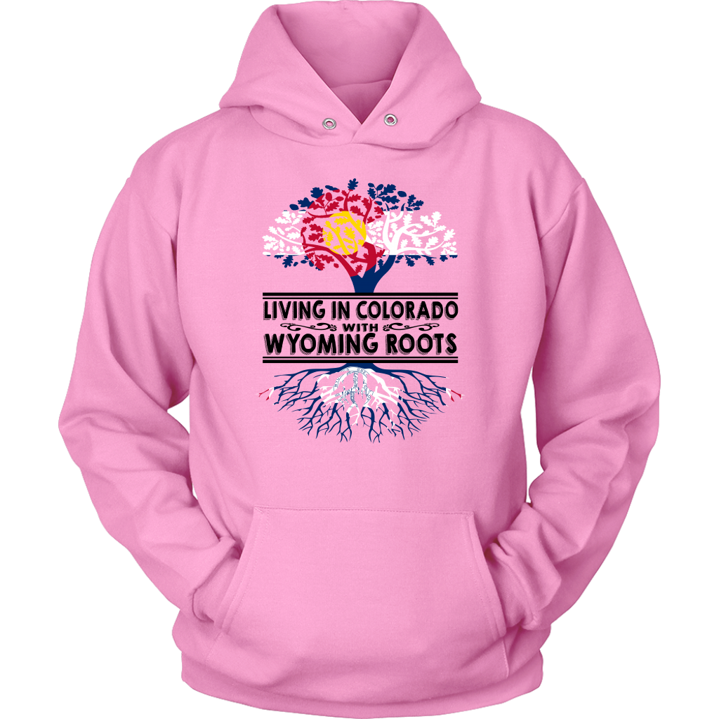 Living In Colorado With Wyoming Roots T-shirt