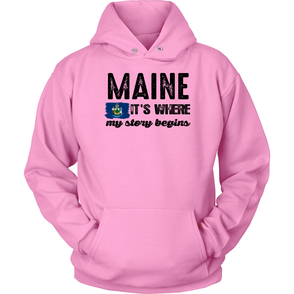 Maine It's Where My Story Begins T-Shirt