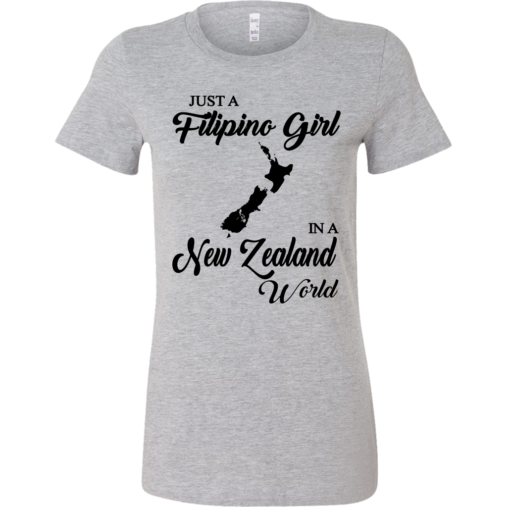 Just A Filipino Girl In A New Zealand World T-shirt