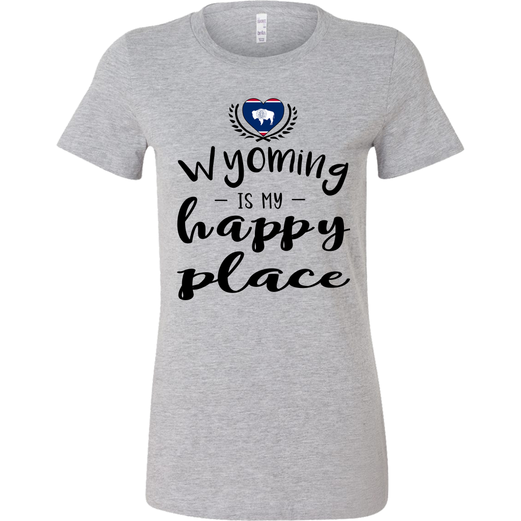 Wyoming Is My Happy Place T-shirt
