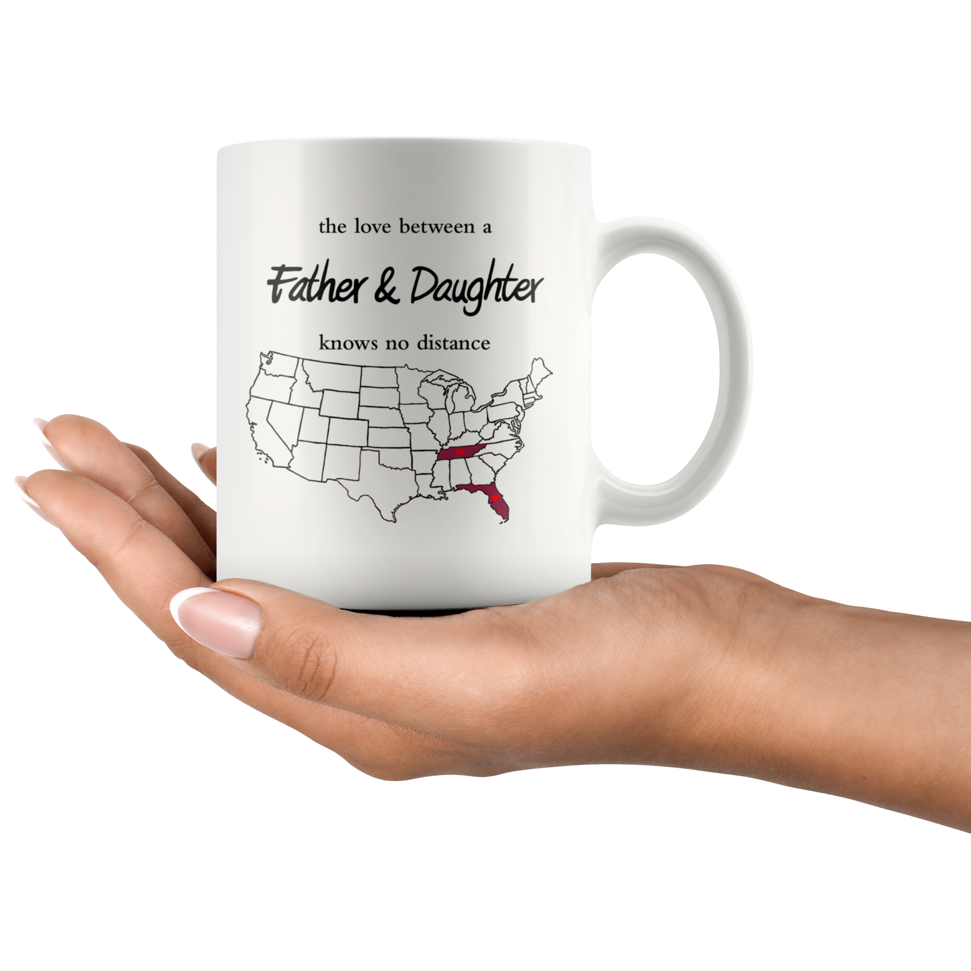 Tennessee Florida The Love Between A Father And Daughter Mug