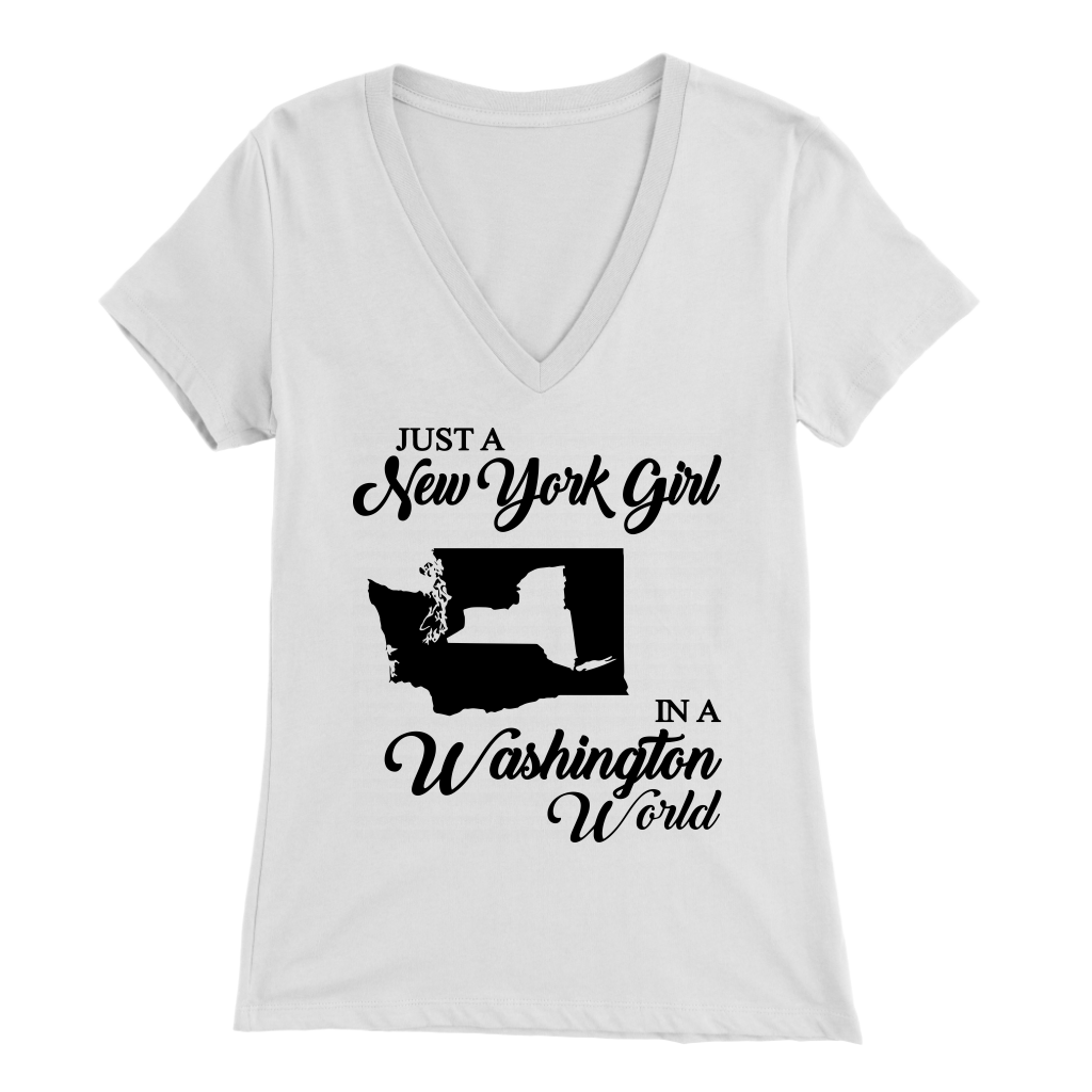 Just A New York Girl In A Washington World T-Shirt