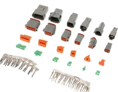 Deutsch Connector Sets w/ Pins Stamped Contacts Crimp Automotive Race Spec DTM04 DTM06 Deustch