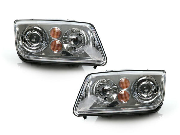 ECode OE Xenon Rep. CHROME Headlight For 1999-2004 VW Jetta 4 IV Halogen Model DPTMOTORSPORT