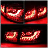 For 2010-2014 VW Volkswagen Golf Hatchback LED Tail Brake Light Stop Lamp Smoked DPTMOTORSPORT