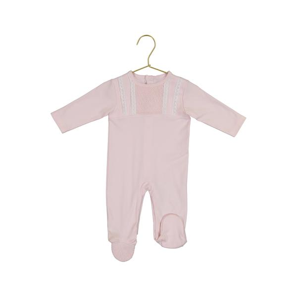 Claire Pink Smock Footie