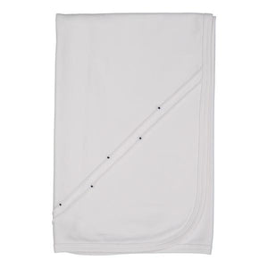 Spencer White Pleated Blanket
