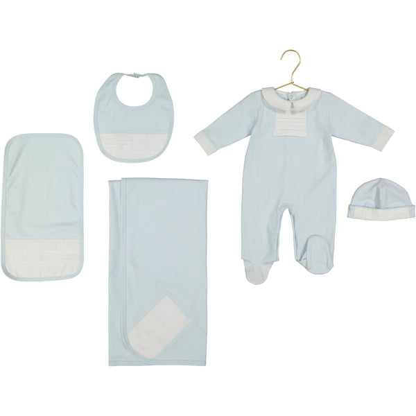 Simon Pima Cotton Light Blue Bib