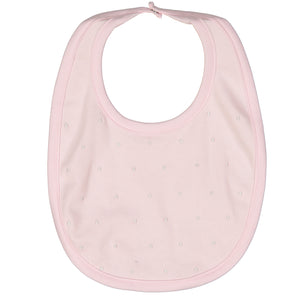 Darlene Pima Cotton Pink Dot Bib