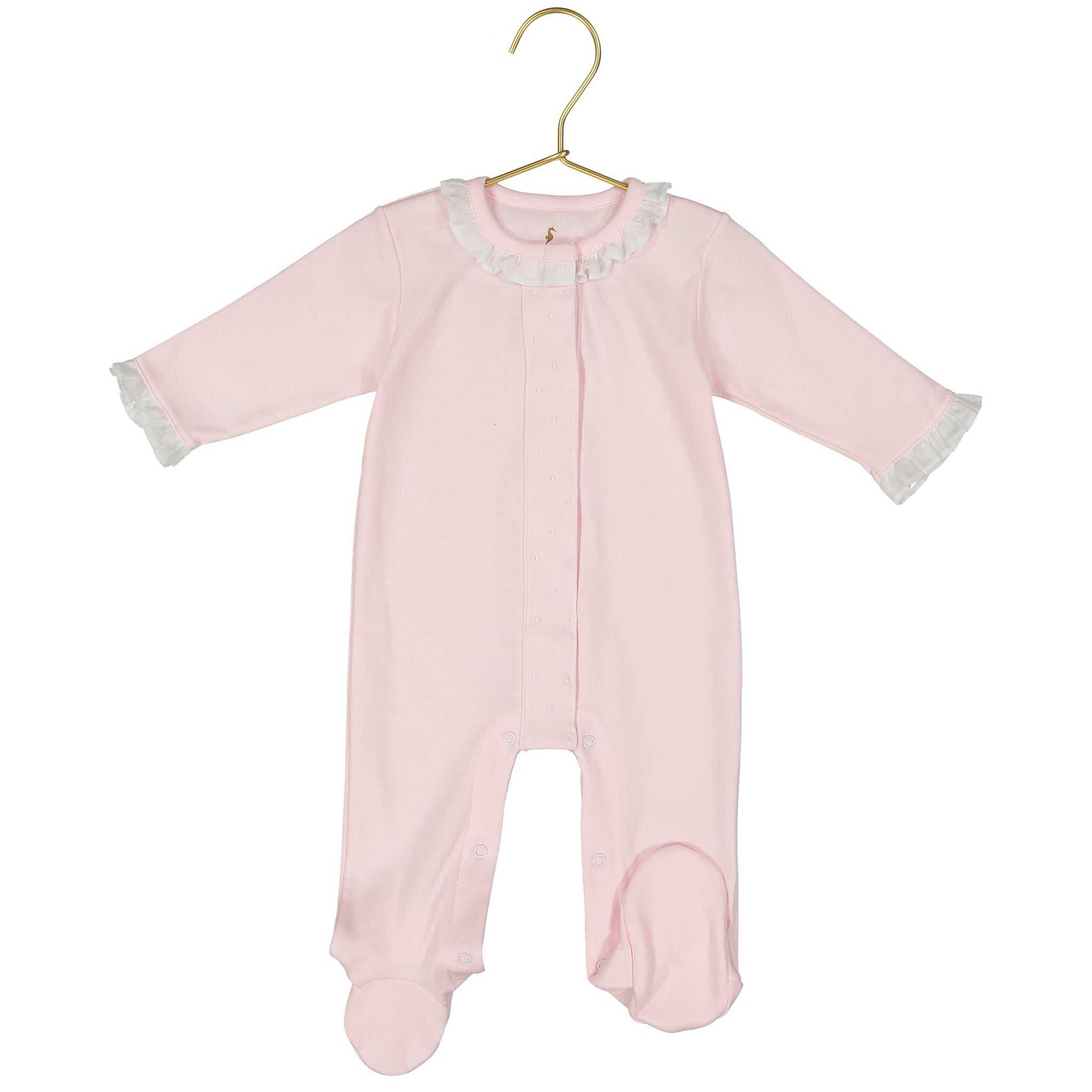 Darlene Pima Cotton Pink Dot Footie