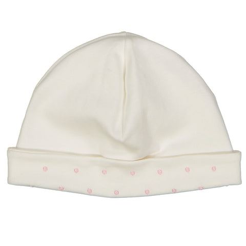 Darlene Pima Cotton White Dot Hat
