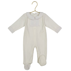 Lucien Pima Cotton Ecru Footie