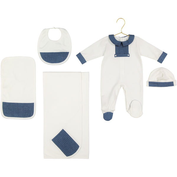 Theo Pima Cotton Chambray Set