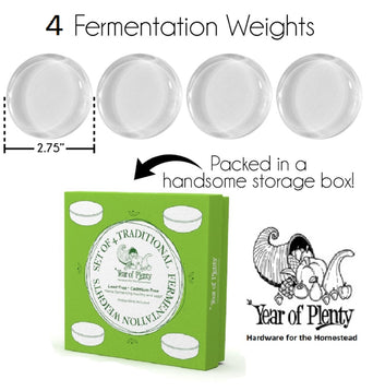 Giant Fermentation Weights for Use in All Wide Mouth Mason Jars for Fermenting Sauerkraut, Kimchi, Pickles and Other Healthy Fermented Foods Full of Probiotics...
