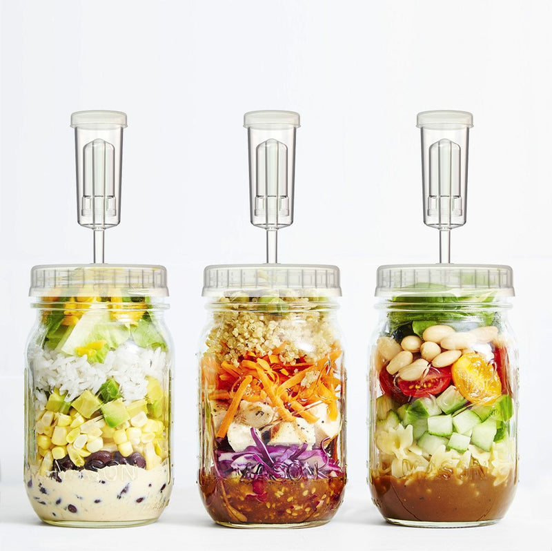 Fermentation Lids | 4-Pack | for Making Sauerkraut in Wide Mouth Mason Jars, Includes Instructions Recipe and Gift Box for Storage...
