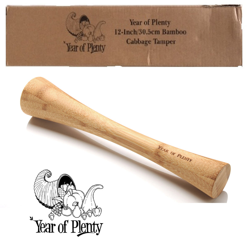 12 Inch Bamboo Cabbage Tamper - Wholesale