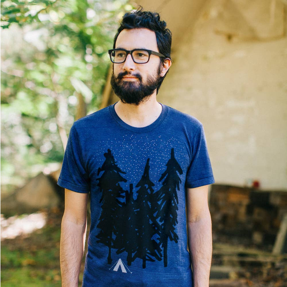 Starry Night Men's Camping Tee - The Lake and Company