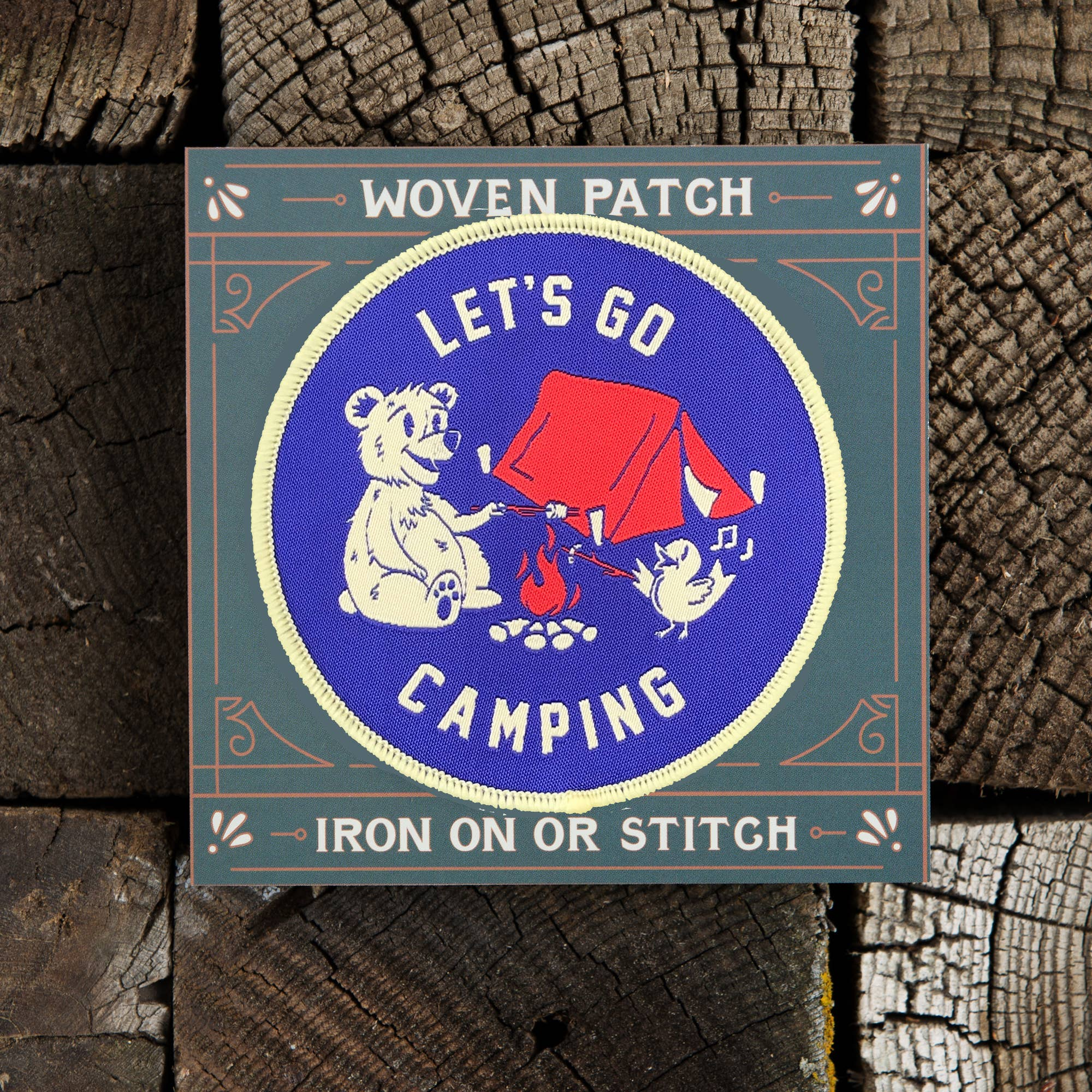 Let's Go Camping Patch - The Lake and Company