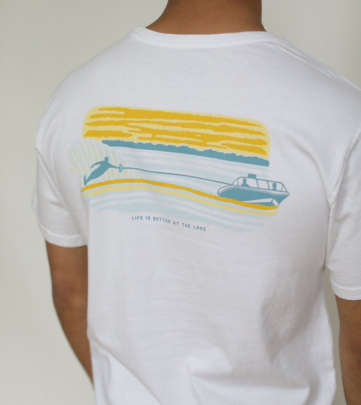 Slalom Skiing - Short Sleeve - White - The Lake and Company