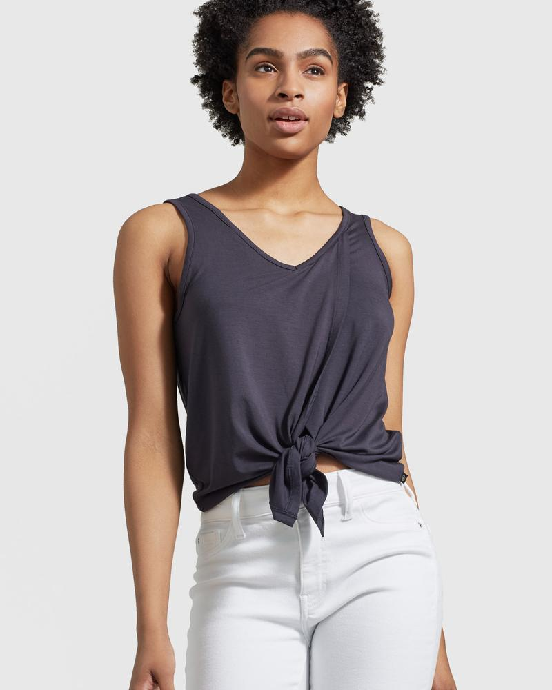 Women's Tie-Front Tank - The Lake and Company